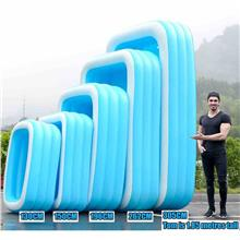 Retro 3 Rings Inflatable Swimming Pool Kids Ba - [130X90X48 POOL ONLY]