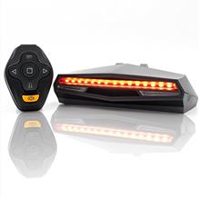 Ampulla Oricycle Rechargeable Bike Tail Light LED - Remote Control, Turning Li