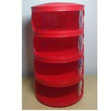 Cherryfood Cover Stackable Food Cover Home Kitc - [4 LAYER RED/ MERAH]