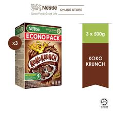 NESTLE KOKO KRUNCH CerealEconopack 500g x 3 box)