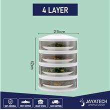 5 Layer Premium Food Cover Stackable Multi Layer Dish Cove - [4 LAYER]