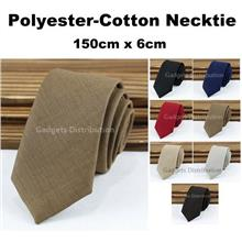 6cm 150*6cm Man Men Polyester-Cotton Necktie Neck Tie Ties 2408.1