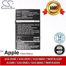 Original CS Tablet Battery Model IPD300SL Apple A1389 / 616-0593