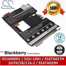 Ori CS Tablet Battery Model BRU100SL Blackberry SQU-1001 / 916TA029H