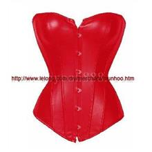 Red Hook Leather Bustier Corset Lingerie Costume YH7113