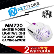 COOLER MASTER MASTERMOUSE MM720 GAMING MOUSE - GLOSSY WHITE