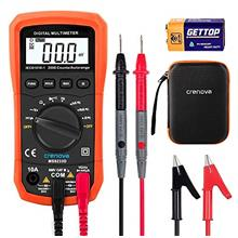 Crenova MS8233D Auto-Ranging Digital Multimeter Home Measuring Tools with Back