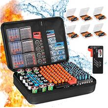 Battery Organizer Storage Box, Fireproof Waterproof Explosionproof Carrying Ba