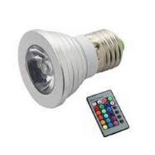 RGB Color LED Light Bulb with Remote Control E27 3w