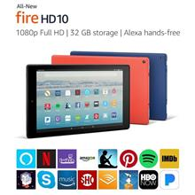 All-New Fire HD 10 Tablet with Alexa Hands-Free, 10.1' 1080p Full HD