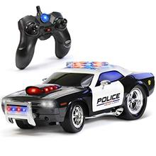 KidiRace Remote Control Police Car Toy with Lights and Sirens for Boys - Recha