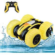 WomToy Waterproof Stunt RC Car,4WD Amphibious Remote Control Car Boat Double S