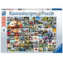 Ravensburger 16018 VW Campervan Moments 3000 Piece Puzzle for Adults - Every P