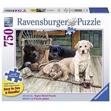 Ravensburger Ruff Day 19939 750 Piece Large Pieces Jigsaw Puzzle for Adults, E