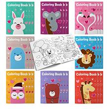 24 Packs Valentine's Day Coloring Books for Kid/Boy/Girl, Coloring Books with