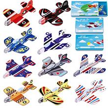 Unomor Valentines Day Cards for Kids - 30 Pack Foam Airplanes with 10 Differen