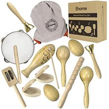 Ehome Toddler Musical Instruments, Natural Wood Percussion Instruments Toy for
