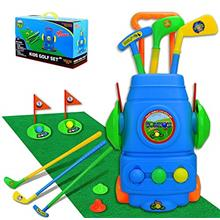 TOMYOU Kids Golf Toy Set – Golf Cart with Hitting Mat, Toddler Golf Toy, Ind