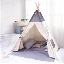 besrey Teepee Tent for Kids with String Lights, Foldable Baby Tipi Play Tent w