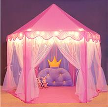 Wilwolfer Princess Castle Play Tent for Girls Large Kids Play Tents Hexagon Pl