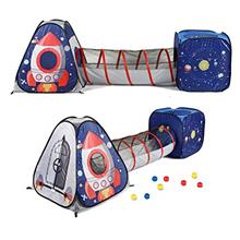 UTEX 3pc Space Astronaut Kids Play Tent, Pop Up Play Tents with Tunnels for Ki