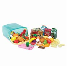 Play Circle by Battat – Pantry in a Bucket – Pretend Play Food Set and Sto