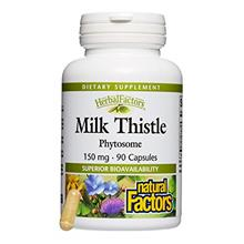 HerbalFactors by Natural Factors, Milk Thistle Phytosome, Promotes Healthy Liv