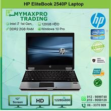 Refurbised HP EliteBook 2540p Intel i7 1st Gen 2GB RAM 120GB HDD W10P