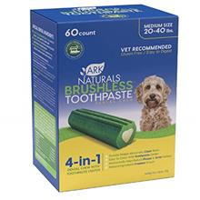 Ark Naturals Brushless Toothpaste Value Pack, Dog Dental Chews for Medium Bree