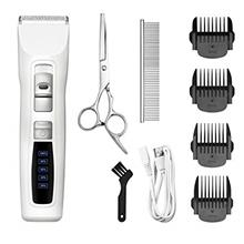 Bousnic Dog Clippers 2-Speed Cordless Pet Hair Grooming Clippers Kit - Profess