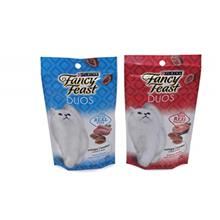 Fancy Feast Purina Duos Real Salmon and Real Tuna Cat Treat (2 Pack - 2.1 oz E