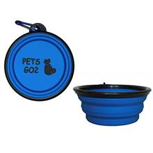 PETS GO2 Collapsible Dog Bowl, Foldable Expandable Cup Dish for Pet Cat Food W