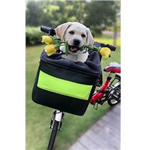 Dog Bike Basket Pet Carrier for Medium Big Dogs Pets (up to 20LBS ) Bike Handl