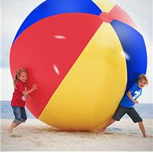 Novelty Place Giant Inflatable Beach Ball, Pool Toy for Kids & Adults - Jumbo