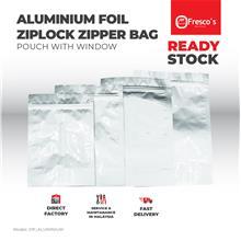 Plastic Ziplock Aluminium Standing Bag Pouch with Zipper 100pcs