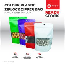 14x20 cm WHITE Stand Up Colour Plastic Ziplock Bag Goodies Bag 100PCS