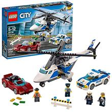 LEGO City Police High-Speed Chase 60138 Building Toy with Cop Car, Police Heli