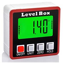 Digital Angle Finder, JUEMEL Magnetic Angle Gauge Electronic Level Box, Backli