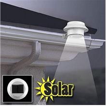 Solar Powered 3 LED Outdoor Lights Lamp Fence Gutter Roof Garden
