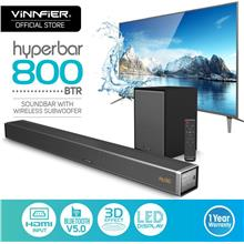 VINNFIER HYPERBAR 800 BTR WIRELESS BLUETOOTH SOUNDBAR SPEAKER WITH SUBWOOFER
