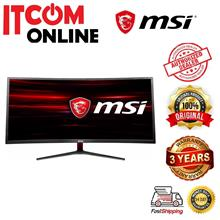 MSI OPTIK 34' CURVE UWQHD 100HZ LED GAMING MONITOR (MAG341CQ) DVI/HDMI/DP/VA/5