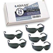 24 Pack of Tinted Safety Glasses (24 Protective Shaded Safety Sunglasses) UV R