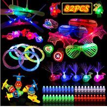 JAT RRBD 82PCs LED Light Up Toys Party Favors,Birthday Glow in the Dark Party