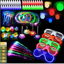 ThEast 88 PCS LED Light Up Toys Party Favors Glow in the Dark Party Supplies f