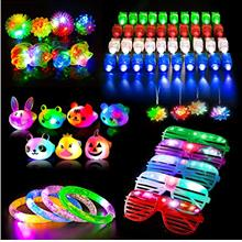 68Pcs Led Light Up Toys Party Favors for Kids/Adults, Glow in the Dark Party S