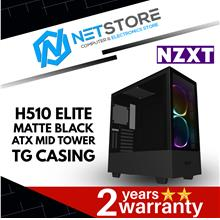 NZXT H510 ELITE MATTE BLACK ATX MID TOWER TG CASING CA-H510E-B1
