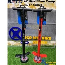 "BETO 28"" Steel Floor Pump w/4"" Gauge (CMP-173SG9)"