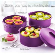 Tupperware Steam It Steamer 3 Tier (Purple)