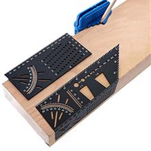 3D Woodworking Tools Multi Angle Measure Ruler Square Size Wood Working Rulers