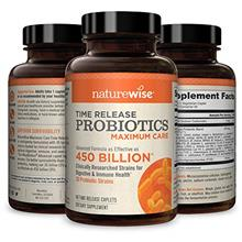 NatureWise Max Probiotics for Men & Women | Time-Release Caplets Comparable t